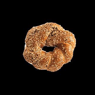 Κουλούρι Πλεξούδα Sandwich Ολικής Άσπρο-Μαύρο Σουσάμι